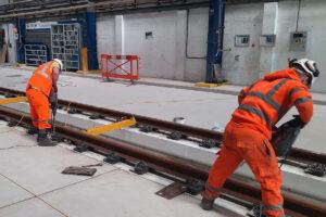 Laying Rail Depot P-way Track - Oxley
